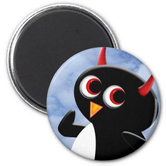 Evil Penguin Poser Magnet