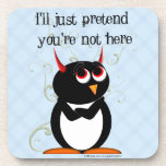 Evil Penguin™ Pretend Drink Coasters