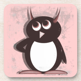 Evil Penguin™ Rosey Beverage Coaster