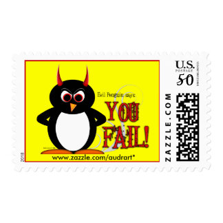 Evil Penguin says YOU FAIL Postage