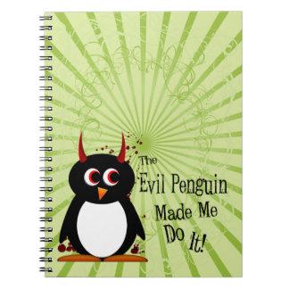 Evil Penguin™ Spiral Note Book