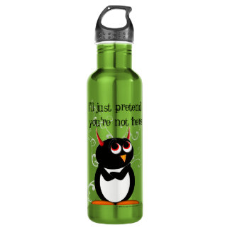 Evil Penguin Stainless Steel Water Bottle