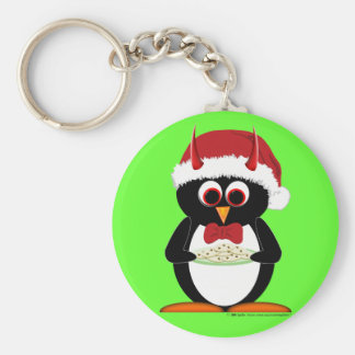 Evil Penguin Stocking Stuffer Key Chain