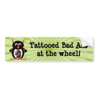 Evil Penguin Tattoo bumpersticker