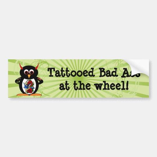 Evil Penguin Tattoo Bumper Sticker