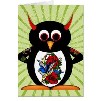 Evil Penguin™ Tattoo Card