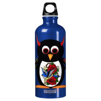 Evil Penguin - Tattoo Water Bottle