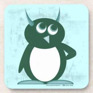 Evil Penguin™ Teal Beverage Coaster
