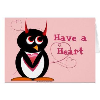 Evil Penguin Valentines Day Card