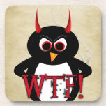Evil Penguin™ WTF Coasters