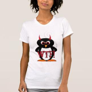 Evil Penguin WTF Distroyed T-shirt