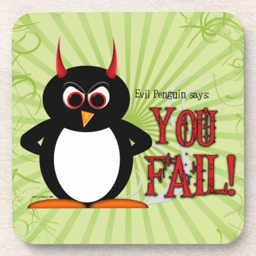 Evil Penguin™ You Fail Coaster