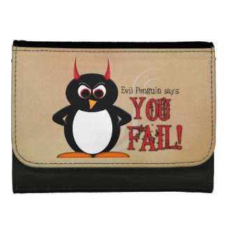 Evil Penguin You Fail Wallet