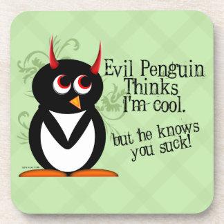 Evil Penguin™ You Suck Drink Coaster