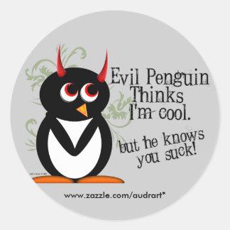 Evil Penguin you suck stickers