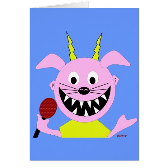 Evil Pig Blues Folk Art Design Card