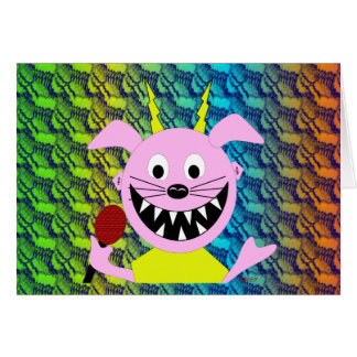 Evil Pig Blues Folk Art Design Card