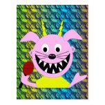 Evil Pig Blues Folk Art Design Postcard