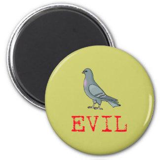 Evil Pigeon 2 Inch Round Magnet