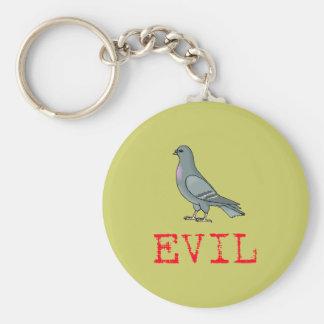 Evil Pigeon Basic Round Button Keychain