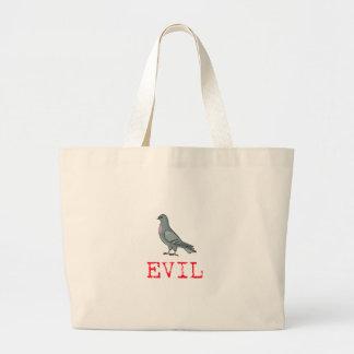 Evil Pigeon Large Tote Bag