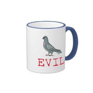 Evil Pigeon Ringer Mug