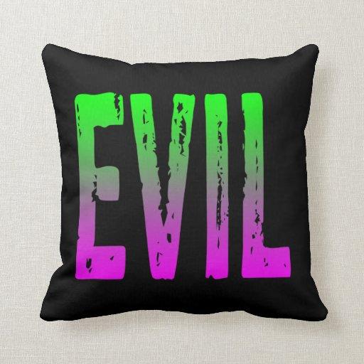 Evil Throw Pillows