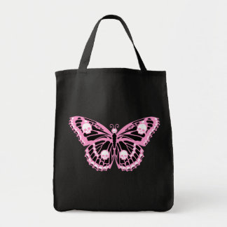Evil Pink Butterfly Tote Bag