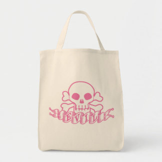 Evil Pink Skull Tote Bag
