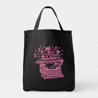 Evil Pink Typewriter Tote Bag