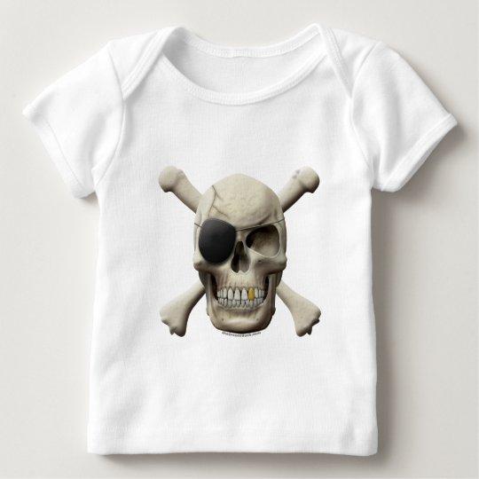 Evil Pirate Skull & Crossbones Baby T-Shirt