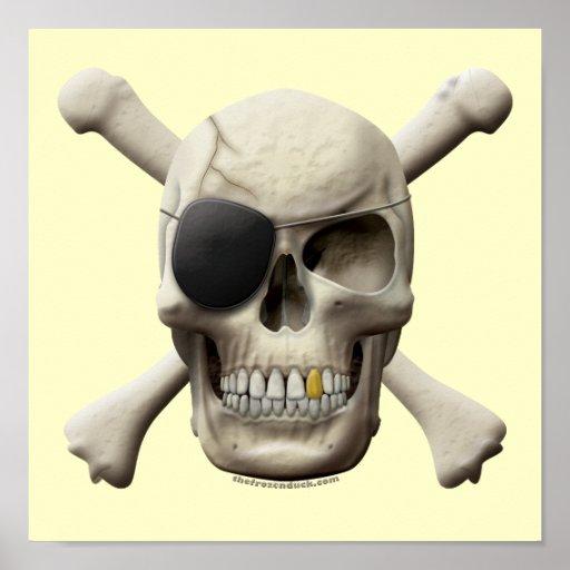 Evil Pirate Skull & Crossbones Poster