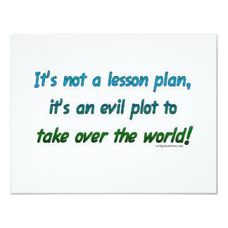 Evil plot not lesson plan custom announcement