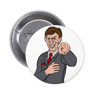 Evil Pointing Business Man Button