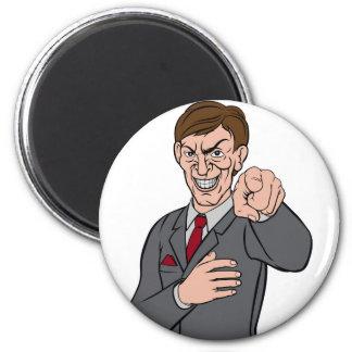 Evil Pointing Business Man Magnet