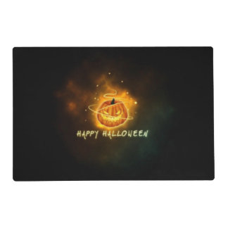 Evil Pumpkin Double Sided Halloween Placemat