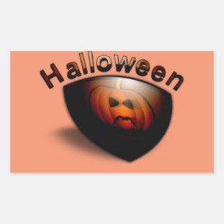 Evil Pumpkin Face Rectangular Sticker
