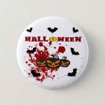 Halloween Themed Evil pumpkin Halloween Button