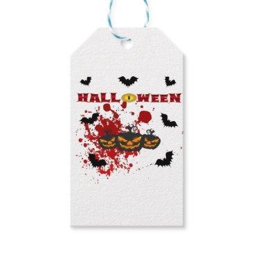 Halloween Themed Evil pumpkin Halloween Gift Tags