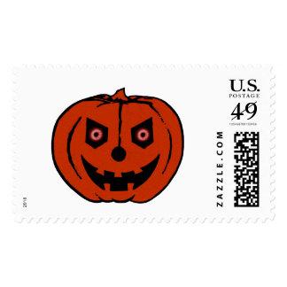 EVIL PUMPKIN (Halloween Jack-O-Lantern) ~ Stamp