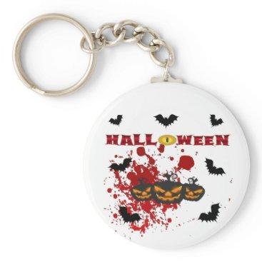 Halloween Themed Evil pumpkin Halloween Keychain