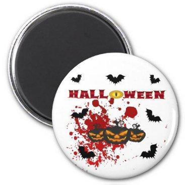 Halloween Themed Evil pumpkin Halloween Magnet