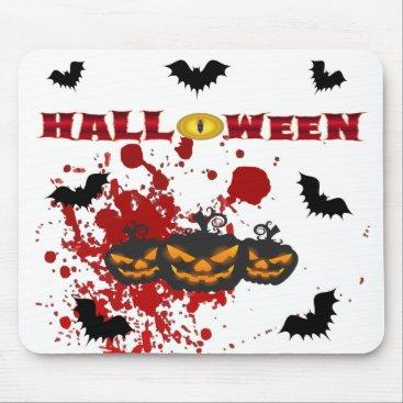 Halloween Themed Evil pumpkin Halloween Mouse Pad