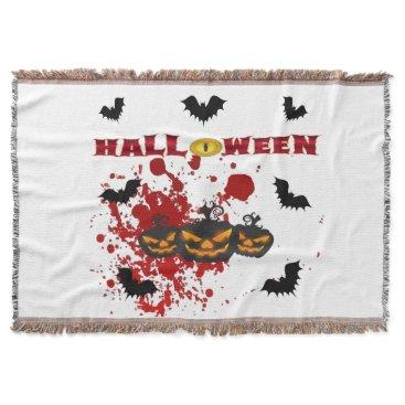 Halloween Themed Evil pumpkin Halloween Throw
