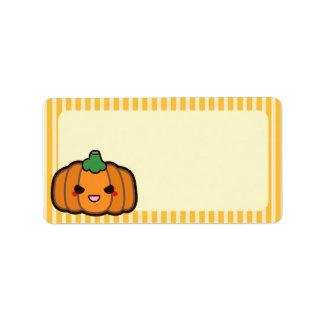 Evil Pumpkin Personalized Address Labels