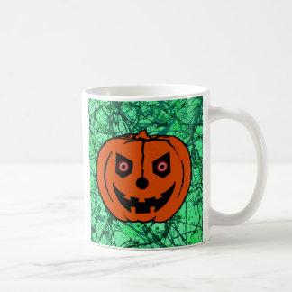EVIL PUMPKIN on EMERALD GREEN ~ Mug