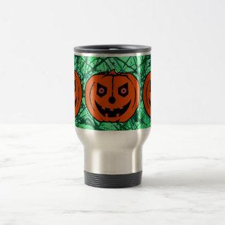 EVIL PUMPKIN on EMERALD GREEN ~ Mugs