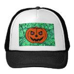 EVIL PUMPKIN on EMERALD GREEN ~ Trucker Hat