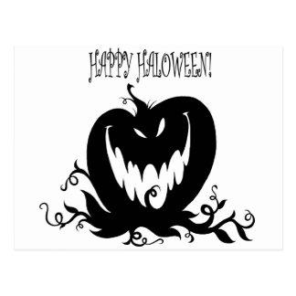 evil pumpkin postcard