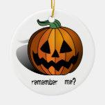 Evil Pumpkin Xmas Ornament